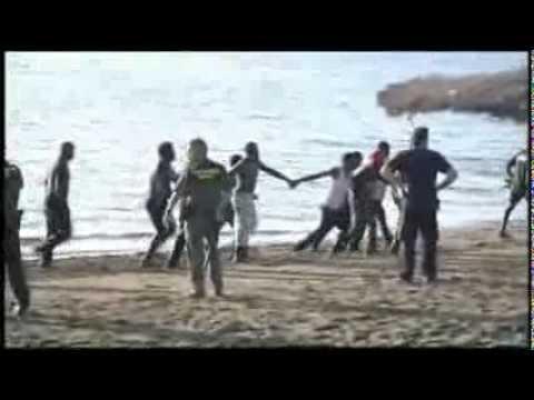 Frontière Espagnole prise d'assaut par des immigrants